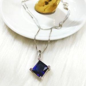 Mid Century Modernist Sapphire Necklace
